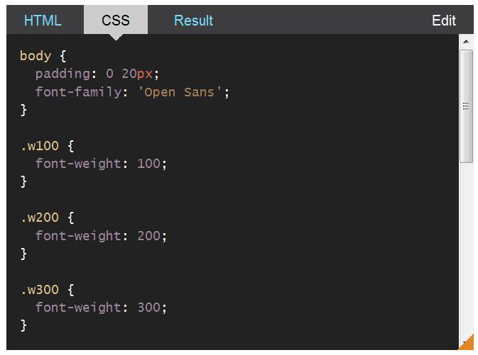 CSS Almanac-font-weight-css
