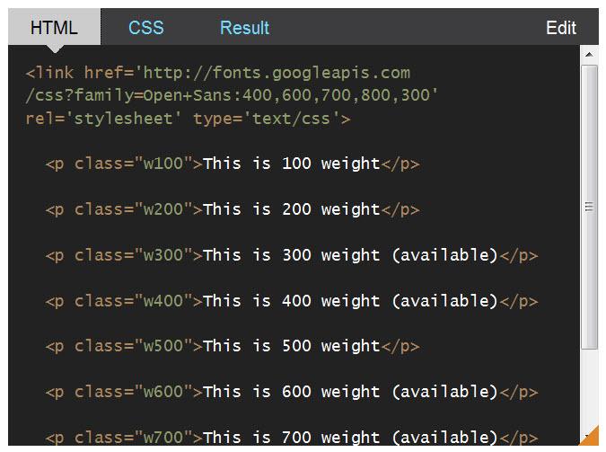 CSS Almanac-font-weight-html