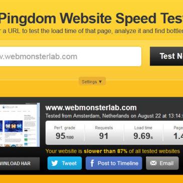 มาทดสอบ Speed ของเว็บเราด้วย Pingdom Tools กันเถอะ
