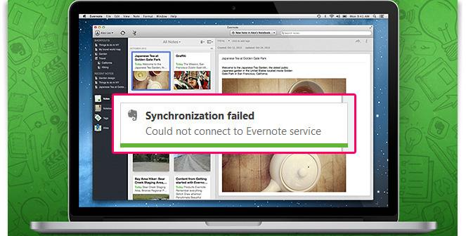 วิธีแก้ปัญหา Evernote Desktop Sync ไม่ได้