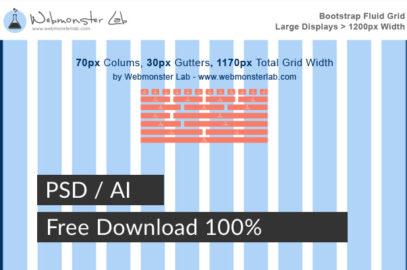 แจก Free – 2016 Bootstrap Grid 12 Columns Desktop 1170px (PSD/AI)
