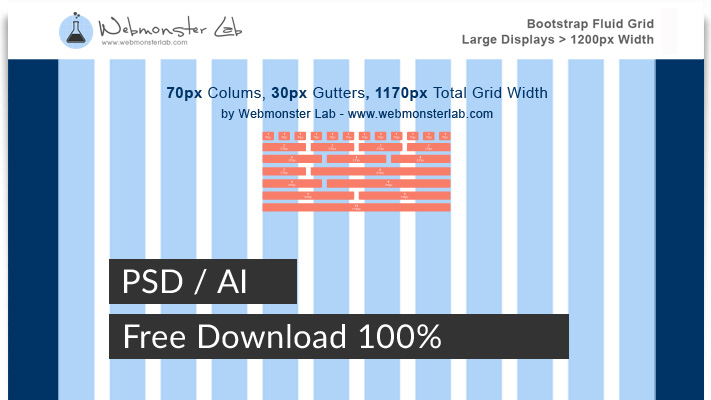 bootstrap 12 column grid psd download