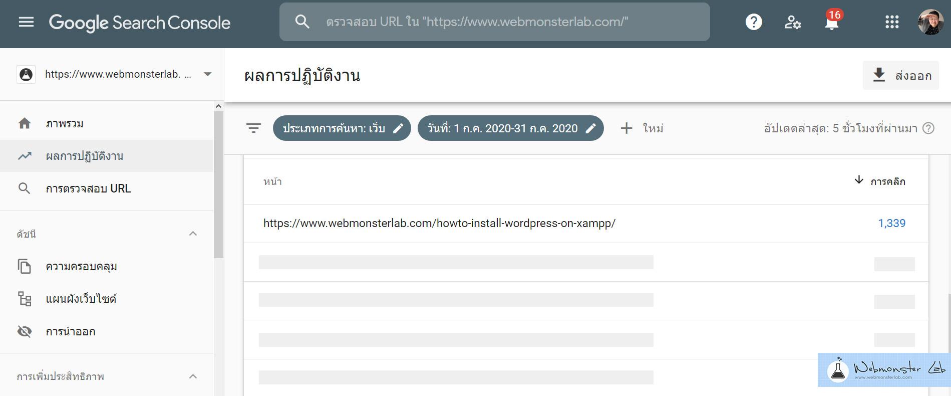 ทำไมเว็บไซต์จึงต้องการ Webmaster - Google Search Console - Top View